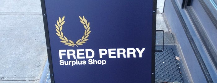 Fred Perry Surplus Shop is one of 2015.