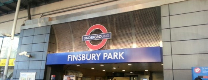 Finsbury Park London Underground Station is one of Tube Challenge.