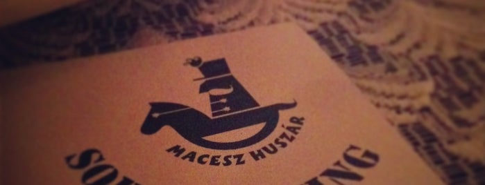 Macesz Huszár is one of I have been here.