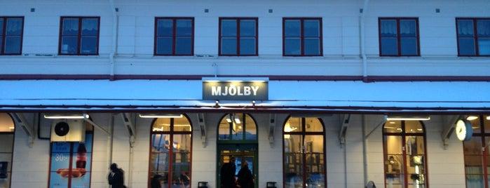 Mjölby station is one of Tågstationer - Sverige.