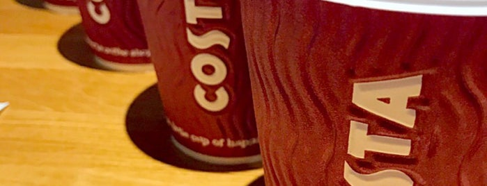 Costa Coffee is one of ╭☆╯Coffee & Bakery ❀●•♪.。.