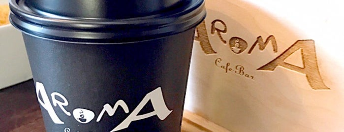 Aroma Cafe Bar is one of ╭☆╯Coffee & Bakery ❀●•♪.。.