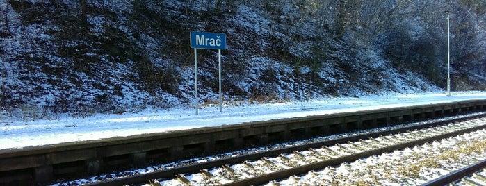 Železniční zastávka Mrač is one of Železniční stanice ČR: M (7/14).