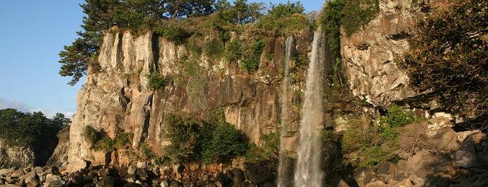 Jeongbang Waterfall is one of Jeju.