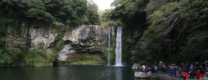 Cheonjiyeon Waterfall is one of Jeju.