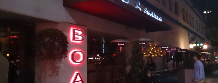 BOA Steakhouse is one of Places.