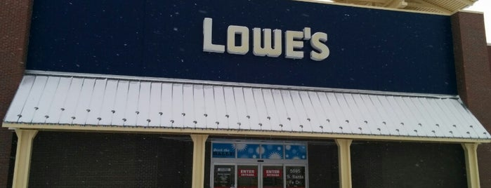 Lowe's Home Improvement is one of My places.