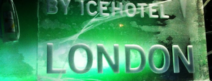 Icebar by Icehotel is one of London.
