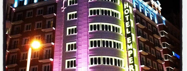 Hotel Emperador Madrid is one of Madrid.