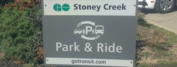 GO Transit - Stoney Creek P+R is one of Places.