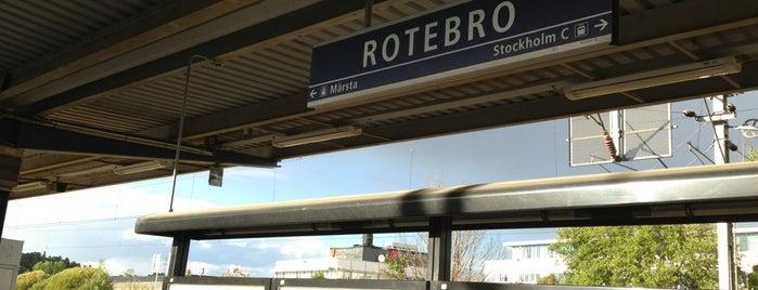 Rotebro (J) is one of SE - Sthlm - Pendeltåg.
