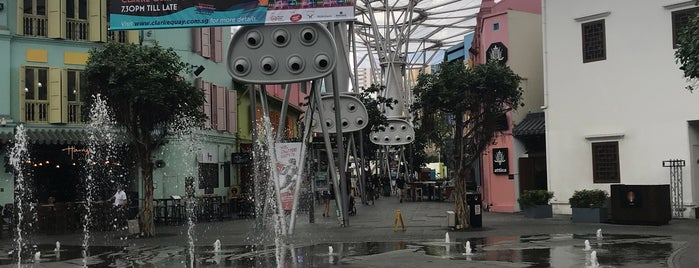 Clarke Quay Water Fountain is one of Lost in Singapore.