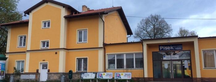 Železniční stanice - Písek město is one of Železniční stanice ČR: P (9/14).