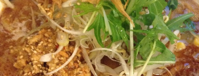 麺家藍花 is one of 兎に角ラーメン食べる.