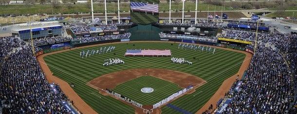 Kauffman Stadium is one of MLB parks.