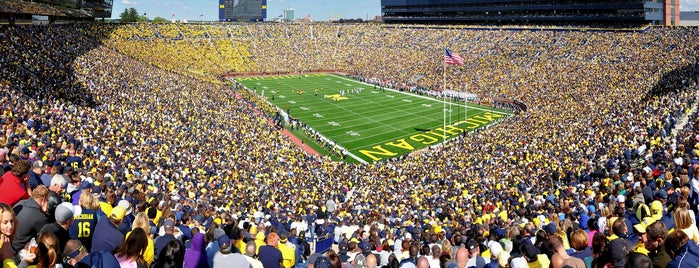 Michigan Stadium is one of Frequents.