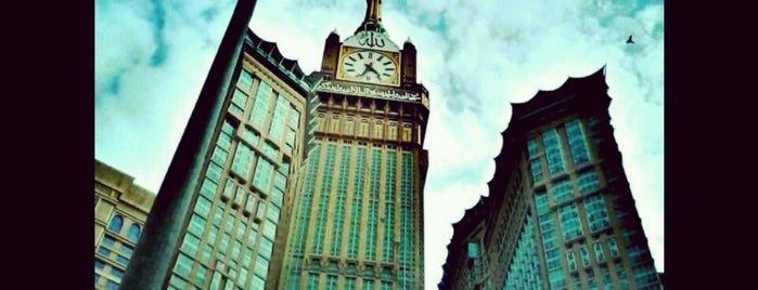 Zam Zam Tower Jam Besar is one of Must visit Place and Food in Saudi Arabia.