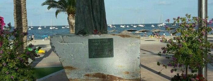Santiago de la Ribera is one of Playas.