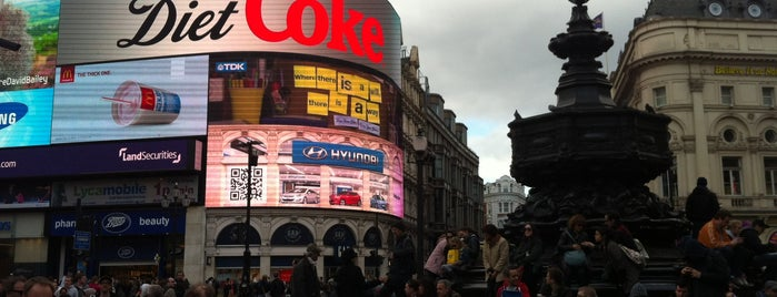 Piccadilly Circus is one of London.