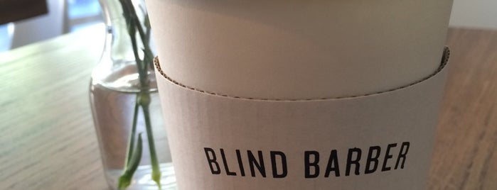 Blind Barber is one of This Is Fancy: Coffee (NYC).