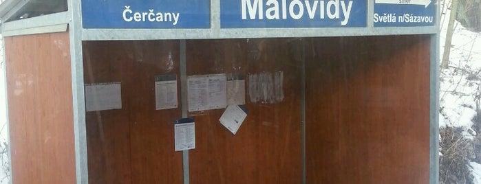 Železniční zastávka Malovidy is one of Železniční stanice ČR: M (7/14).
