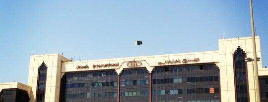 Jinnah International Airport (KHI) جناح بین الاقوامی ہوائی اڈہ is one of khurram bhai.
