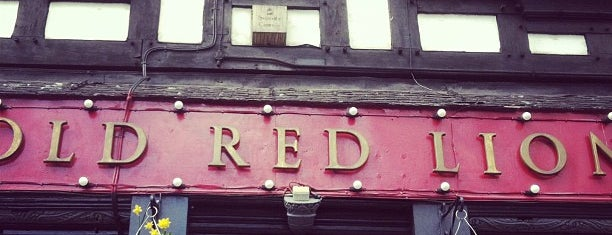 Old Red Lion is one of London Pubs - Ambrosia.