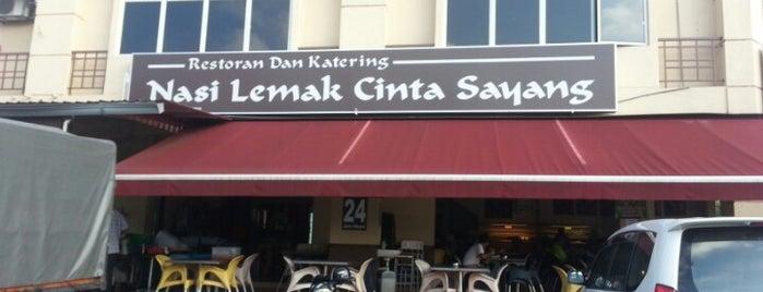 Nasi Lemak Cinta Sayang is one of jalan2 cari makan seksyen 13 shah alam.