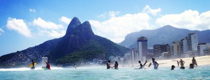 Praia do Leblon is one of Rio.