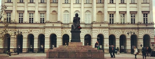 Pomnik Kopernika is one of Free hotspot WiFi Warszawa.