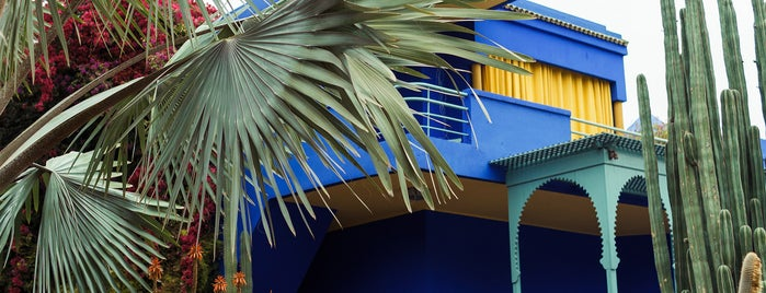 Majorelle Gardens is one of Marrakesh city guide.