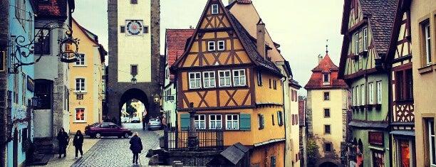 Rothenburg ob der Tauber is one of Bavaria.