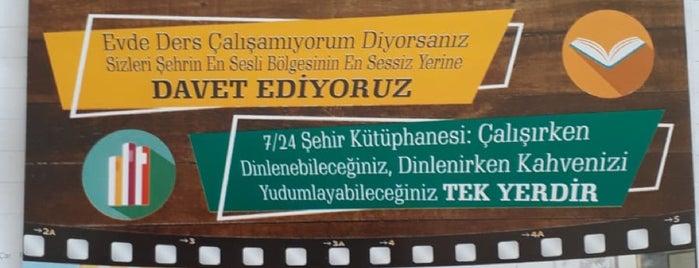 7/24 Şehir Kütüphanesi is one of Adana Gece Hayatı Turgut Özal Mado Yakını.