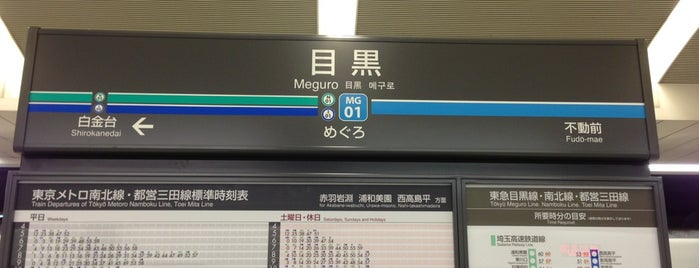 Tokyu Meguro Station (MG01) is one of 駅.