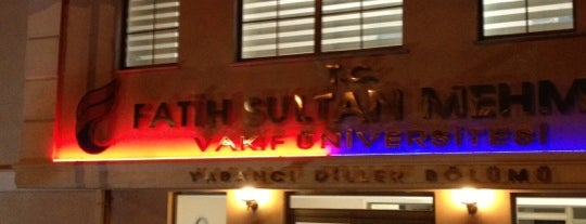 Fatih Sultan Mehmet Vakıf Üniversitesi is one of İstanbuldaki Üniversiteler ve Kampüsler.