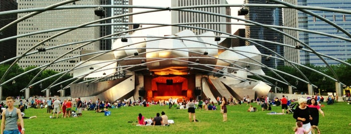 Jay Pritzker Pavilion is one of The 15 Best Places for Picnics in Chicago.