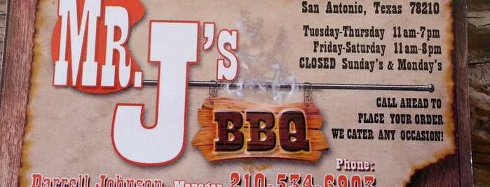 Mr. J's Bar B Que is one of Frequent.
