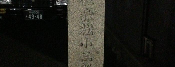 赤松小三郎遭難之地(贈従五位赤松小三郎先生記念碑) is one of 史跡・石碑・駒札/洛中南 - Historic relics in Central Kyoto 2.