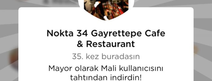 Nokta 34 Gayrettepe Cafe & Restaurant is one of Gayrettepe~Balmumcu~Esentepe.