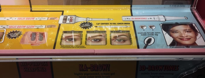 Benefit Brow Bar is one of The 15 Best Cosmetics Shops in New York City.