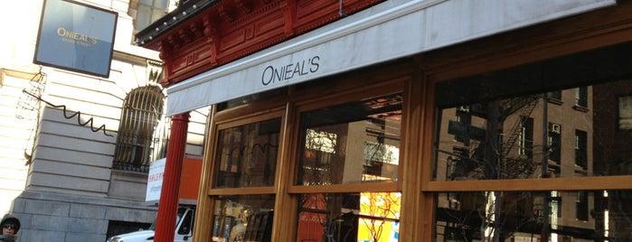 Onieal's Grand Street Bar & Restaurant is one of favorites.