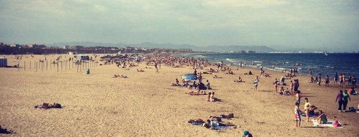 Malvarrosa Beach is one of valencia.