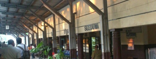 Seeduwa Railway Station is one of Railway Stations In Sri Lanka.