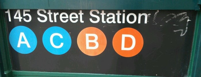 MTA Subway - 145th St (A/B/C/D) is one of I go.