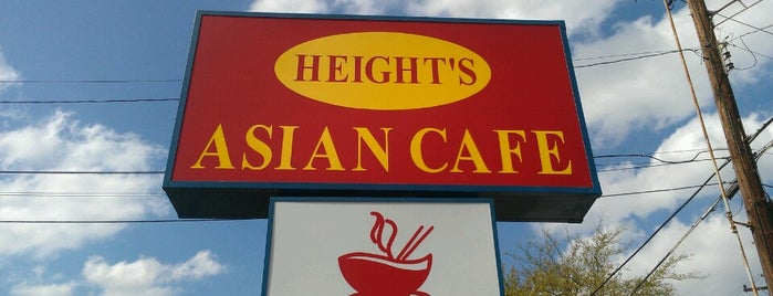 Height's Asian Cafe is one of Houston Press - 'We Love Food' - 2012.