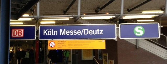 Bahnhof Köln Messe/Deutz is one of Top 40 Foursquare Bahnhöfe.