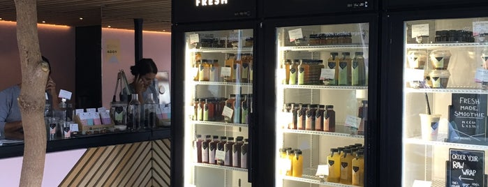 The Cold Pressed Juicery is one of Amsterdam koffie/lunch.
