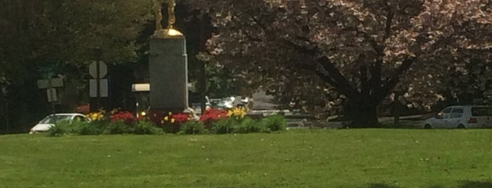 Coe Circle Park (Joan of Arc) is one of Portland Thursday.