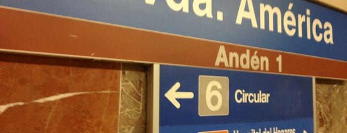Metro Avenida de América is one of Transporte.