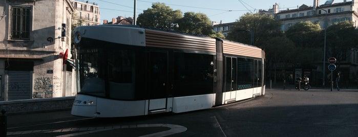 Station Canebière – Garibaldi [T2] is one of Tramway de Marseille.